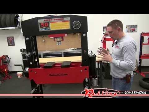 Redline RE50T 50 Ton Hydraulic Shop Press