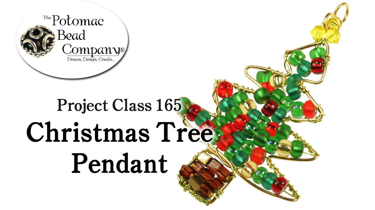 Make a Wire Christmas Tree Pendant - YouTube