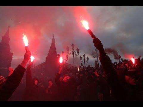 """Беспорядки на Манежной площади 2010 ( 11 декабря, """"Вести 24"""" прямая трансляция)"""