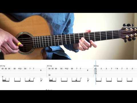 Sam Smith - Too Good At Goodbyes - Fingerstyle Guitar Tutorial (lesson) By Mattias Krantz