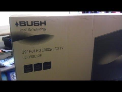 Bush LC-39GL12F Unboxing fantastic budget Argos 39 inch LCD 1080p HD TV