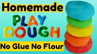 How to make clay at home Without Glue/homemade play dough/clay making without glue/diy Homemade clay