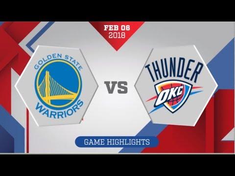 Oklahoma City Thunder vs Golden State Warriors: February 6, 2018