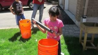 Building Self-watering Planters, Part 3  Hannah 8yo