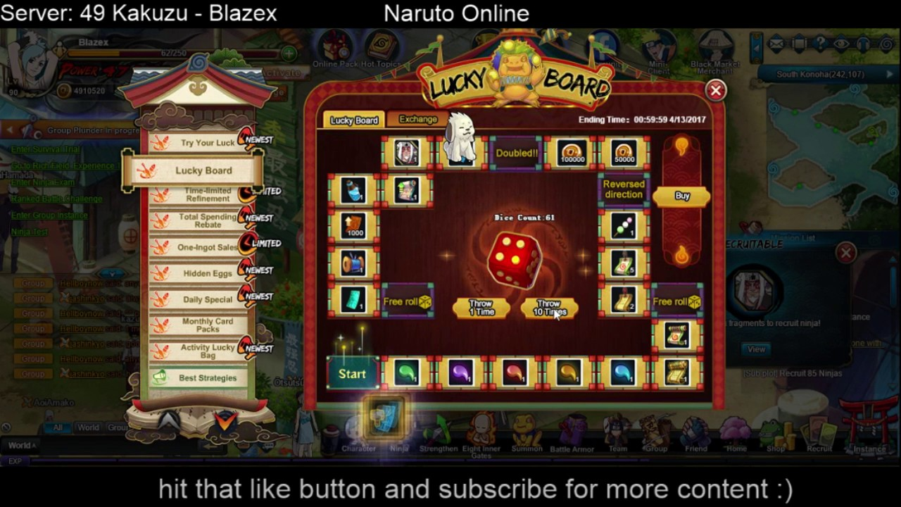 Naruto online free coupons
