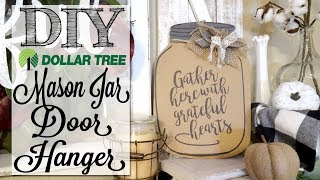 DIY Dollar Tree Mason Jar Door Hanger
