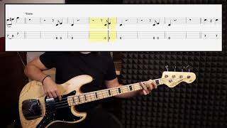 The Black Keys - Lonely Boy (bass cover with tabs in video)
