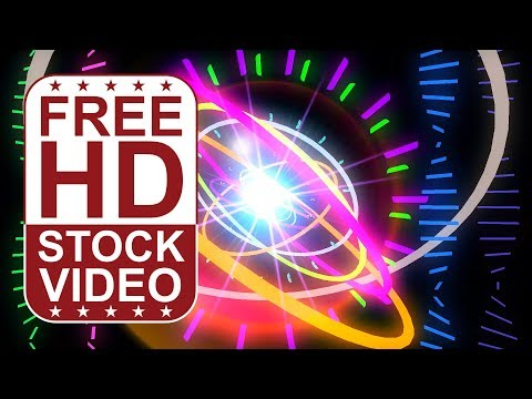 FREE HD themed video backgrounds – music: circular audio equalizer with spinning bars moving pulsing
