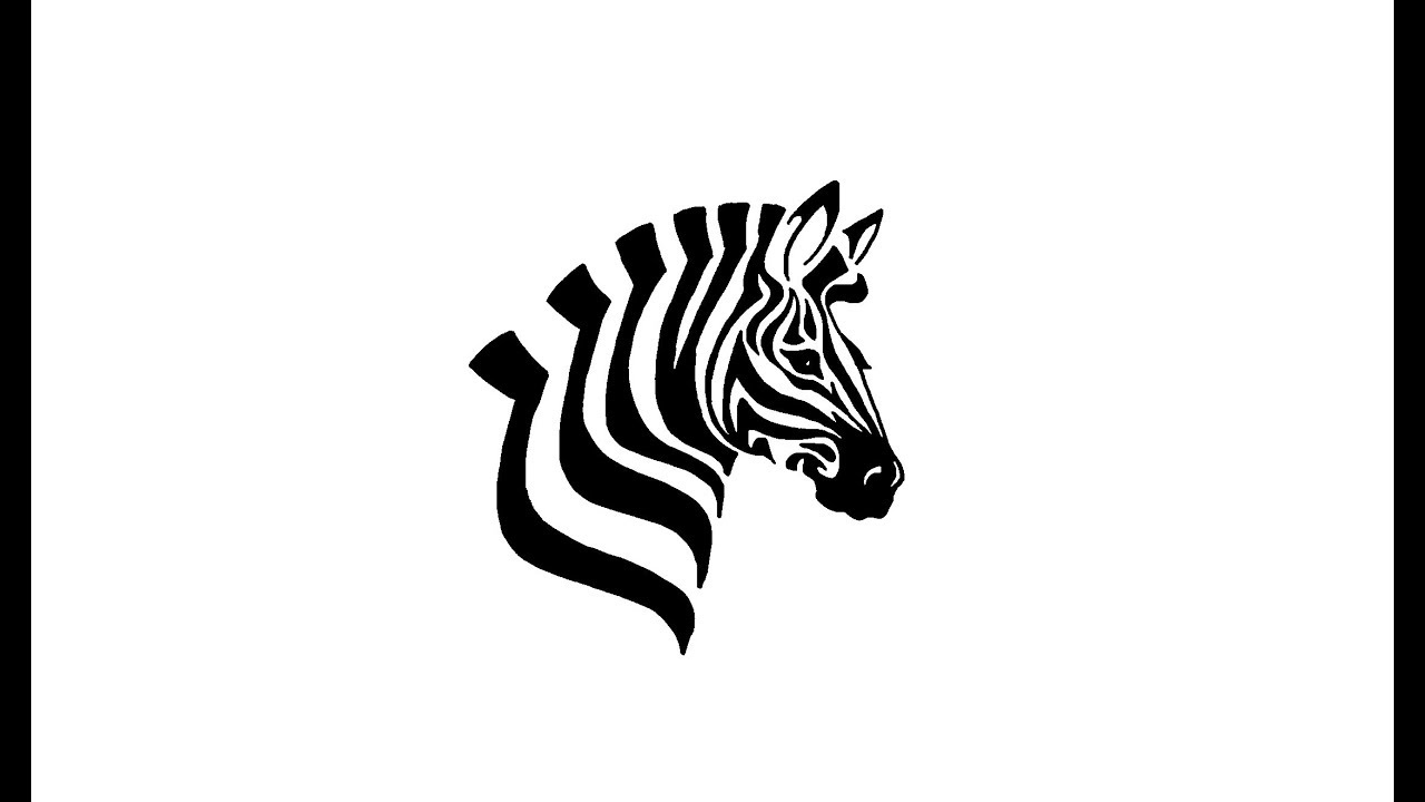 how to draw a zebra head - YouTube