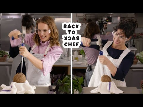 Natalie Portman Tries to Keep Up With a Professional Chef | Back-to-Back Chef | Bon Apptit