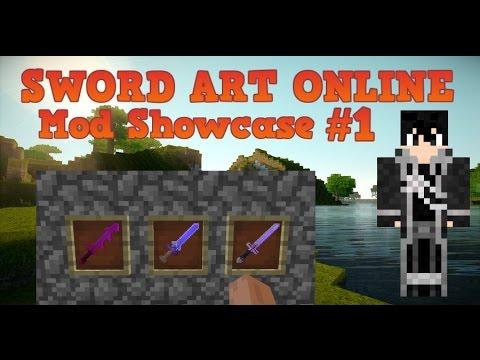 Minecraft Mod Showcase Review! Sword Art Online Part 1