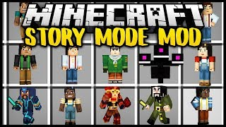 Minecraft STORY MODE MOD (Mod Showcase)