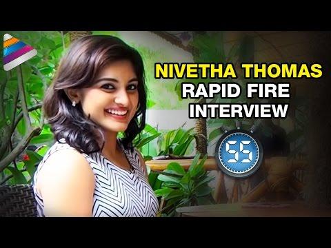Nivetha Thomas Reveals her Relationship with Nani | Rapid Fire | Interview | Gentleman Telugu Movie