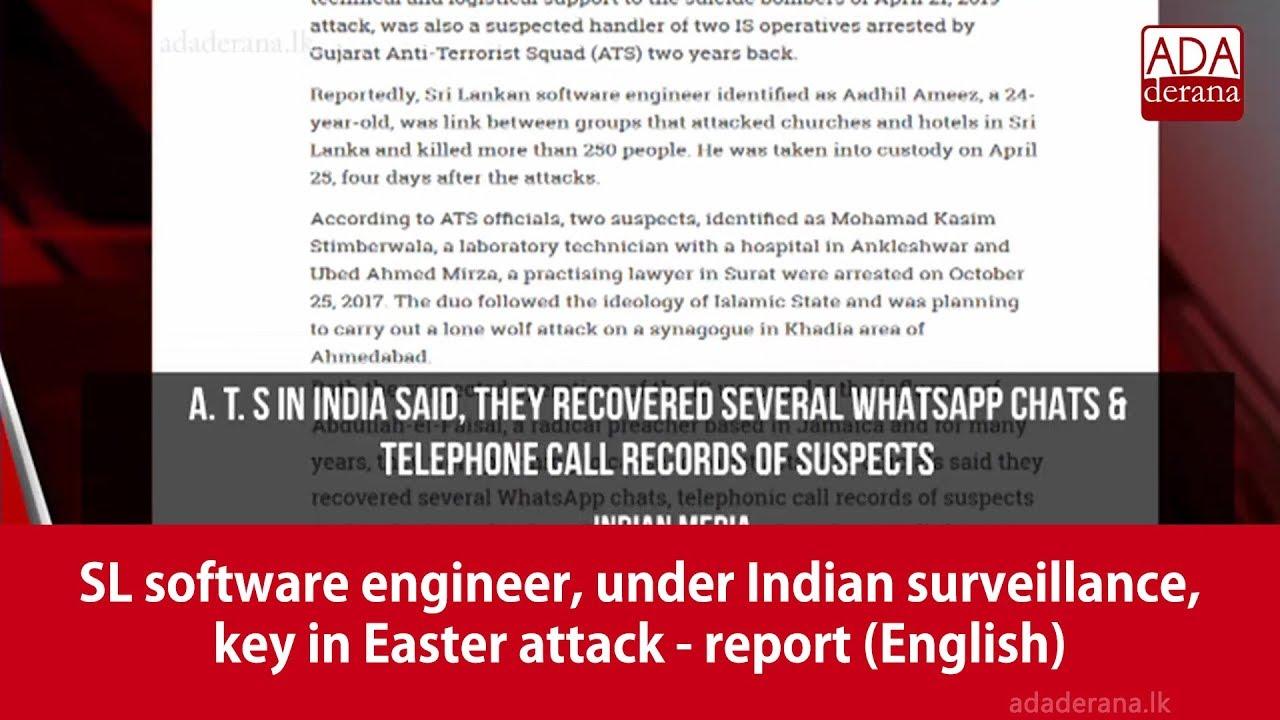 SL software engineer, under Indian surveillance, key in Easter
