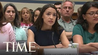 Rep. Ocasio-Cortez On Child Separation At U.S.-Mexico Border At House Oversight Hearing | TIME