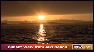 Sunset View from Alki Beach