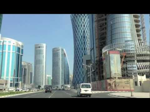 Doha west bay driving