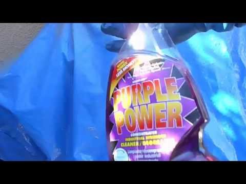 """How to Clean A K and N Air Filter Using Purple Power! """"SIMPLE"""""""