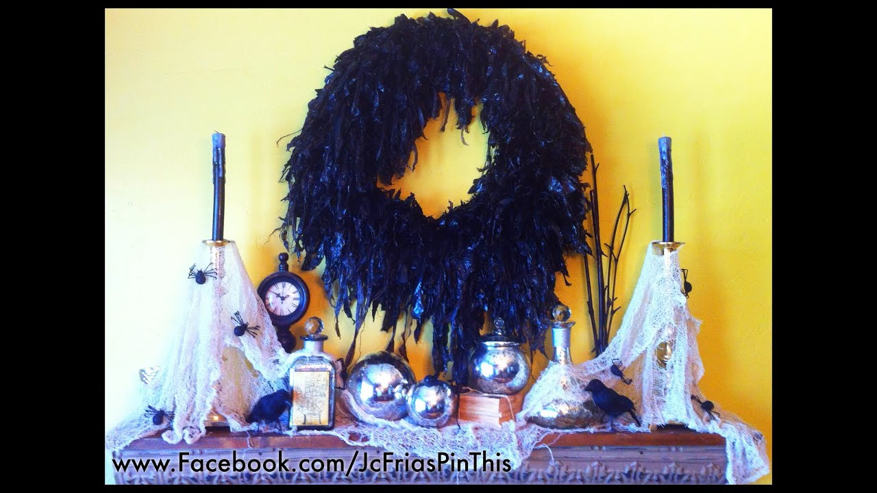 diy halloween wreath for 6 on a budget how to decorate your home 2012 ideas pumpkin mod podge youtube