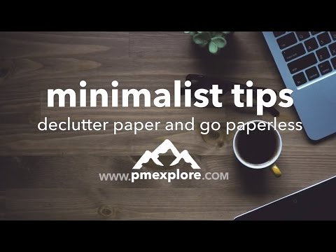 Declutter Paper and Go Paperless 🙌 👍 | minimalist tips