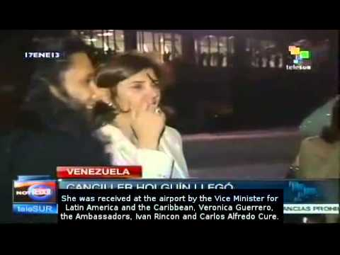 Foreign Minister of Colombia arrives in Caracas