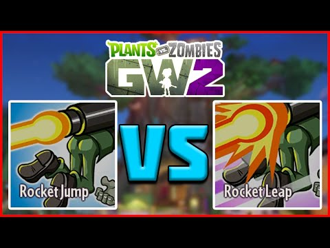 """ABILITY COMPARISON"" ROCKET JUMP & ROCKET LEAP - Plants vs Zombies Garden Warfare 2"