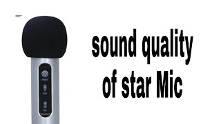 How to buy starmaker star Mic and how it sounds in singing? #starmaker