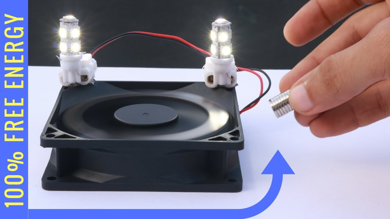 Free Energy Light Bulb Experiment Magnet Power Generator Youtube
