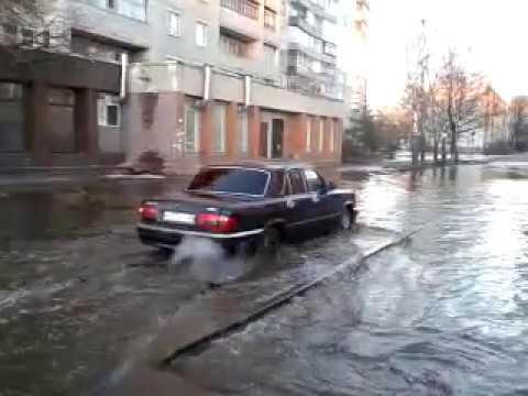 Улица Орловская. Потоп. Брянск 2017-02-25 🏊