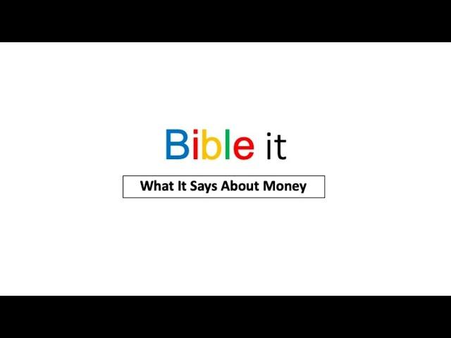 Christway Sept. 6 | Bible it - Money