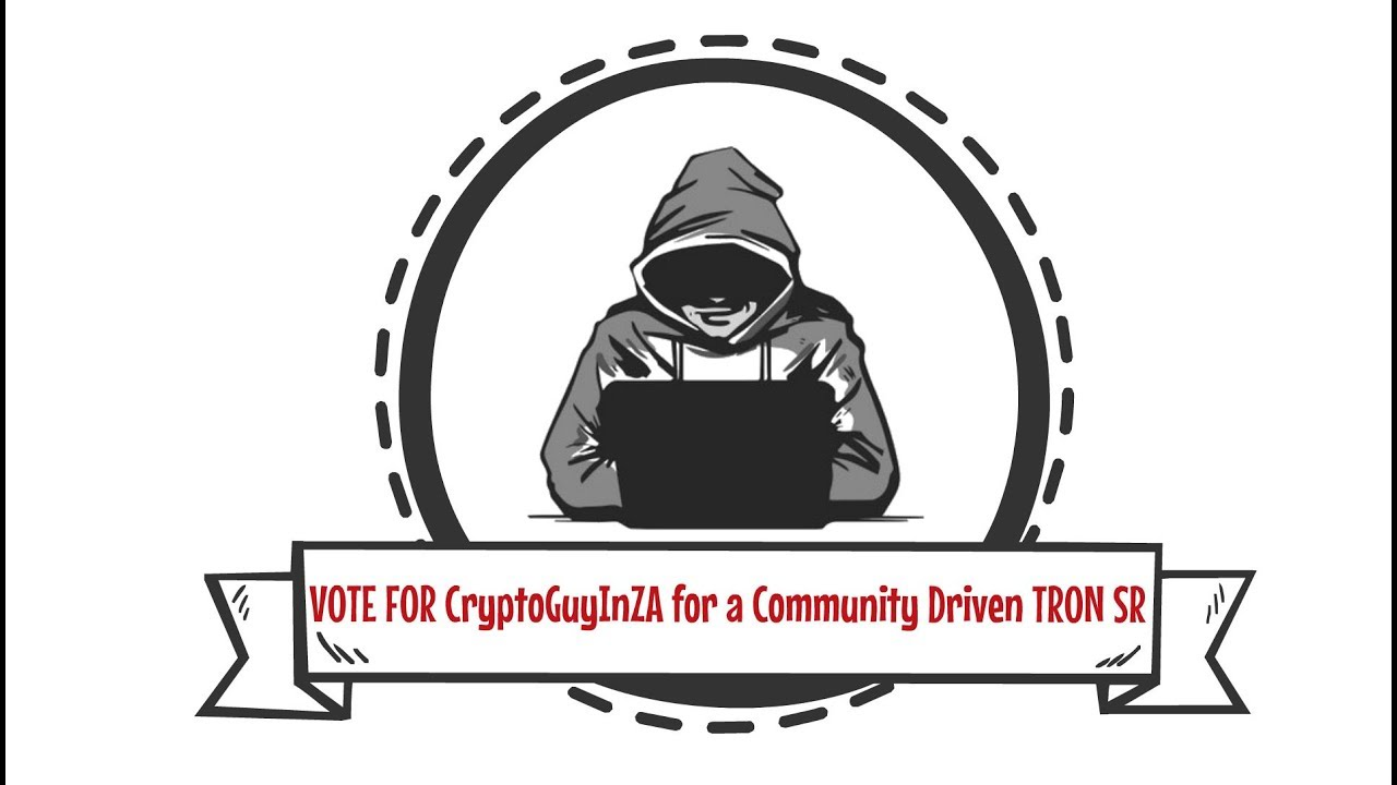 Vote for CryptoGuyInZA for a Community Driven Tron SR - YouTube