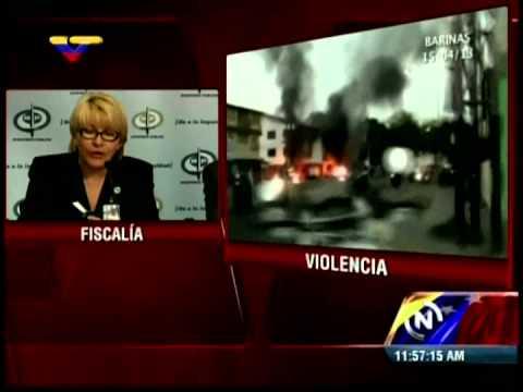 Fiscal General Luisa Ortega Díaz informa que hay 7 muertos por hechos violentos del lunes