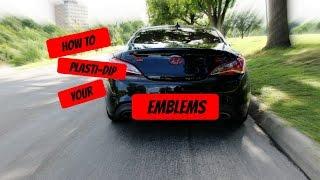HOW TO PLASTI DIP YOUR CAR EMBLEMS