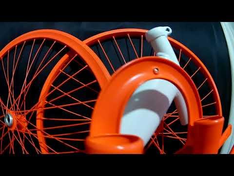 Покраска велосипеда в ярко оранжевый + матовый лак