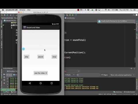 Loading audio and video media in Android Projects