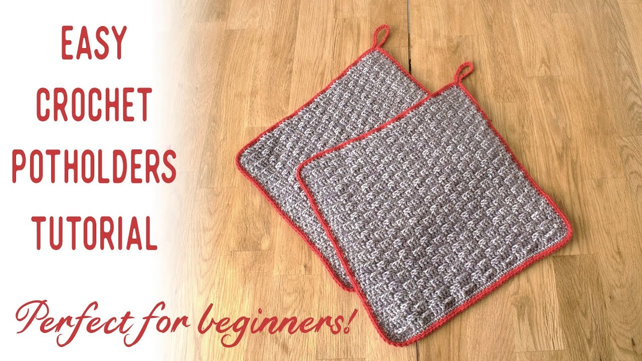 Easy Crochet Potholders Tutorial Perfect Project For Beginners