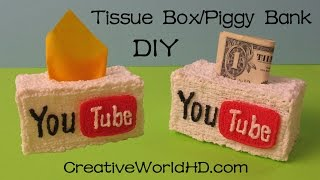 How to: Tissue Box/Piggy Bank/You Tube Logo - 3D Printing Pen/Scribbler DIY Tutorial