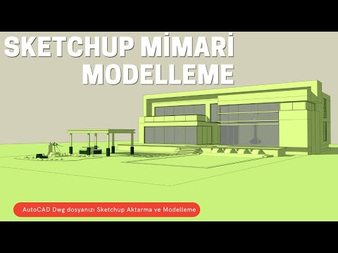 Sketchup Kat Modelleme - Baştan Sona Dwg Dosyası ile Kat Modelleme