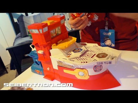 Rescue Bots High Tide Rescue Rig Product Demo Transformers Hasbro Toy Fair 2015