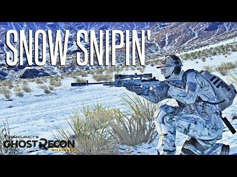 SNOW SNIPER! - Ghost Recon Wildlands MK14 EBR Sniper Operation (Hardest Difficulty)
