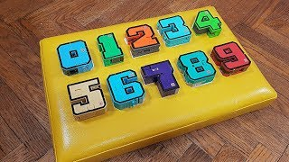 Learn Numbers with a wooden board in English and Russian Video for kids