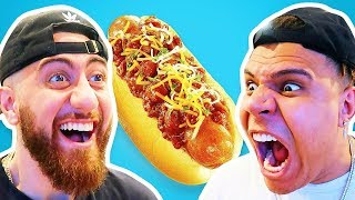 Who Can Cook The Perfect HOT DOG?! *TEAM ALBOE FOOD COOK OFF CHALLENGE*