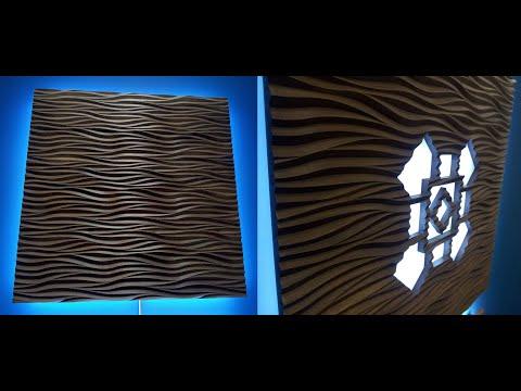Большие 3д панели с подсветкой /Big 3d Panels With Backlight
