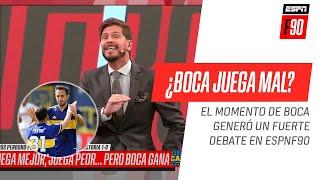 ¡SE PICÓ EN #ESPNF90! #Bulos, #Sottile y #Domínguez discutieron sobre el momento de #Boca