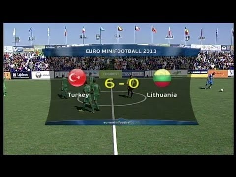 miniEURO 2013 - Game 24 - Turkey - Lithuania 6-0