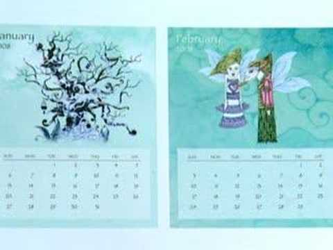 CD Jewel Case Calendar