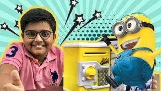 Minions ATM Piggy Bank Money Safe | Smart toy Unboxing | Jam With Kicha #2 | toys unboxing India