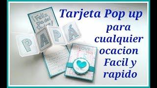 Tarjeta POP UP  para PAPÁ | Regalo para cualquier ocasión (vídeo corregido)