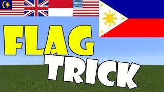 FLAG TRICK | Minecraft PE (Pocket Edition) MCPE thumbnail