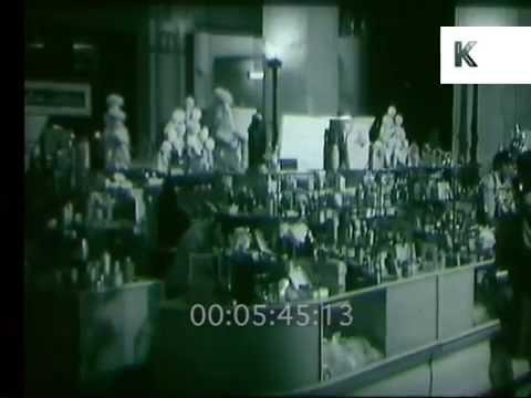 1950s Selfridges Beauty Hall, London Department Store, 16mm Film Rushes